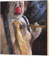 Chippy The Clown Wood Print