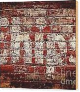 Chips Brick Wall Wood Print