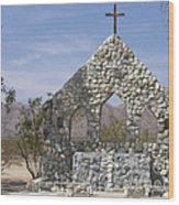 Chiriaco Summit Chapel Wood Print