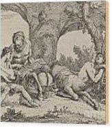 Chiron Teaching Music To Achilles Wood Print