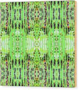 Chive Abstract Green Wood Print