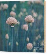 Chive Blues Wood Print