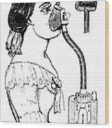 Chloroform Inhaler, 1858 Wood Print