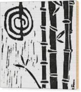 Cho Ku Rei And Bamboo Wood Print by Lynn-Marie Gildersleeve