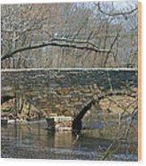 Choate Bridge Ipswich Ma Wood Print