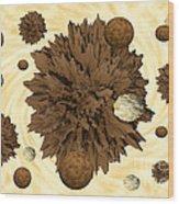 Chocolate Asteroids Wood Print