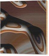Chocolate Bark Wood Print