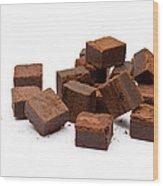 Chocolate Brownies Wood Print
