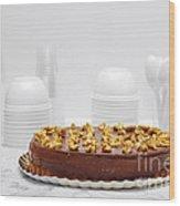 Chocolate Cake Wood Print
