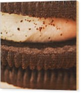 Chocolate Cookies Wood Print