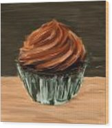 Chocolate Cupcake Wood Print