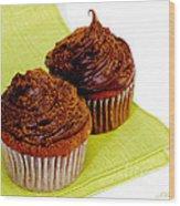 Chocolate Cupcakes Wood Print