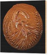 Chocolate Dipped Baseball Square Wood Print
