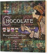 Chocolate Wood Print by Evie Cook