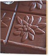Chocolate Flower  Wood Print