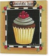 Chocolate Pecan Cupcake Wood Print
