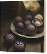 Chocolate Pralines Wood Print