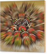 Chocolate Strawberry Rush Wood Print