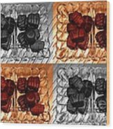 Chocolates Wood Print by Barbara Griffin