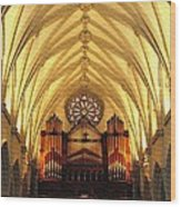 Choir Loft At Saint Josephs Cathedral Buffalo New York Wood Print