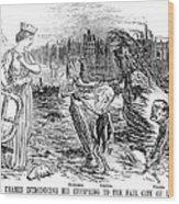 Cholera Cartoon, 1858 Wood Print