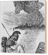 Cholera Cartoon, 1883 Wood Print by Granger