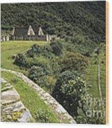 Choquequirao Inca Terraces Wood Print
