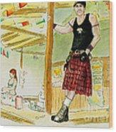 Chris At The Broken Spoke Saloon Wood Print