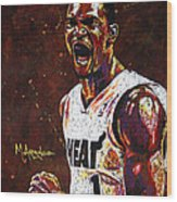 Chris Bosh Wood Print by Maria Arango