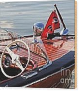 Chris Craft Deluxe Runabout Wood Print