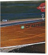 Chris Craft Raceabout Wood Print