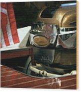 Chris Craft With Johnson Motor Wood Print