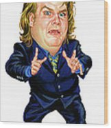 Chris Farley Wood Print
