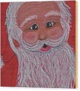 Chris Kringle Wood Print