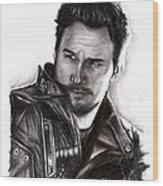 Chris Pratt 2 Wood Print