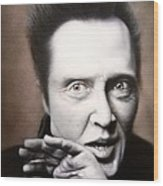 Chris Walken Wood Print