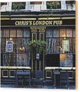 Chris's London Pub Wood Print