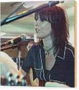 Chrissie Hynde Acoustic By Denise Dube Wood Print