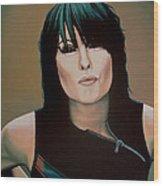 Chrissie Hynde Painting Wood Print