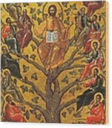Christ And The Apostles Wood Print