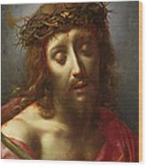 Christ As The Man Of Sorrows Wood Print by Carlo Dolci