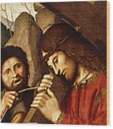 Christ Carrying The Cross Wood Print
