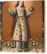 Christ Child With Passion Symbols Wood Print