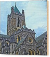 Christ Church Cathedral In Dublin Wood Print