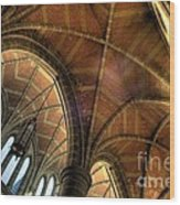 Christ Church Cathedral Roof Detail Wood Print