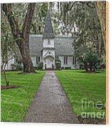 Christ Church Saint Simons Island Georgia Wood Print