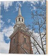 Christ Church Steeple Wood Print