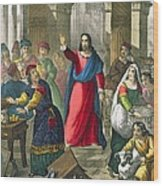 Christ Cleanses The Temple Wood Print