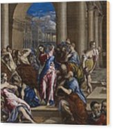 Christ Driving The Money Changers From The Temple Wood Print