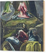 Christ In The Garden Of Olives Wood Print